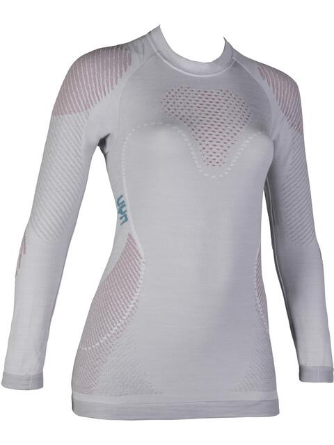UYN Fusyon UW LS Shirt Women Light Grey/Salmon/Purple